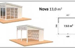 PORCHE, CENADOR DE MADERA, PALMAKO, NOVA 13,0 m2