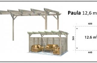 PORCHE, CENADOR DE MADERA, PALMAKO, PAULA 12,6 m2
